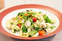 Balsamic chicken tortellini salad    This is amazing. Even better cold the next day. Thanks to rhiinpink.com for linking to it!