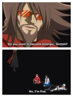 Lmao!! This was the day they were trolling Bleach. Zangetsu couldn't believe they refused his training. Lol only on Gintama