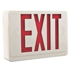 Lithonia Lighting Quantum LED Thermoplastic Emergency Exit Sign