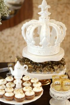 Gold White Prince Princess Girl Boy Birthday Party Planning Ideas