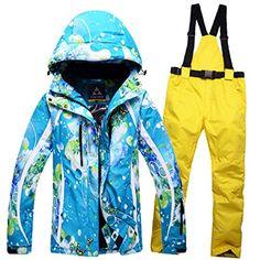 d31e0c4a86 COSTYLE Women s Multicolor Windproof Waterproof Ski Suit Winter Jacket Warm  Thicken Ski Pants Outdoor Jacket Skiwear