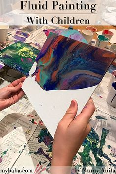 Fluid painting is a very addictive form of painting. Kids will absolutely love it, every piece will be a unique work of art. Nanny Activities, Summer Activities For Kids, Summer Kids, Crafts For Kids, Arts And Crafts, Painting For Kids, Painting & Drawing, Painting Activities, Painted Shells