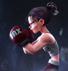 Fight Like A Girl, Erick Cazares on ArtStation at https://www.artstation.com/artwork/GLY4W