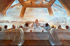 Salvador Dali The Sacrament of the Last Supper oil painting for sale; Select your favorite Salvador Dali The Sacrament of the Last Supper painting on canvas or frame at discount price. Surrealist, Last Supper, Dali Paintings, Painting, Surrealism, Art, Surrealism Painting, Christian Art, Dali Art