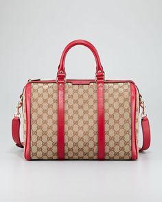 Boston Medium Vintage Web Bowler Bag by Gucci at Neiman Marcus.