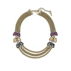 Color Code Plum Three-Row Necklace