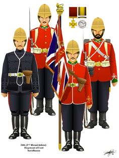 24th Foot at Isandlwana- Illustration from Tim Reese's CD of uniforms of the British and Colonial regiments in the Zulu War.