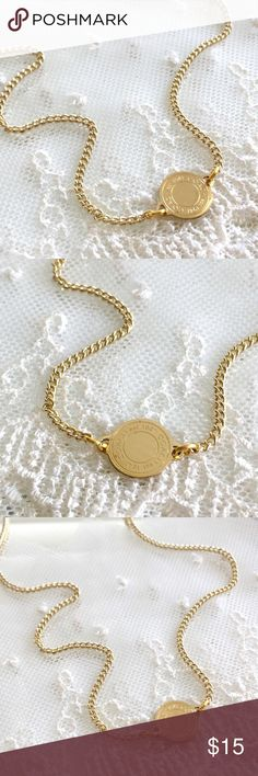 """Coach SIMPLE Coin Disc Charm Necklace 🎀NOTE TO BUYERS... all my items are marked to lowest price. PLEASE DON'T MAKE OFFERS, MY PRICE IS FIRM. Thank you and have a Wonderful Day🎀  100% Guaranteed Authentic Coach SIMPLE EVERYDAY Coin Disc charm on CUSTOM 20"""" necklace with lobster closure clasp. I can adjust size if needed. No box included.  Brand new!  SEE MATCHING BRACELET...  Follow me so you can be notified of new items listed!  Take a peek at my other listings for more treasures... Coach…"""