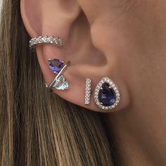 Ear Jewelry, Dainty Jewelry, Cute Jewelry, Bridal Jewelry, Jewelery, Jewelry Accessories, Jewelry Design, Fake Piercing, Ear Piercings