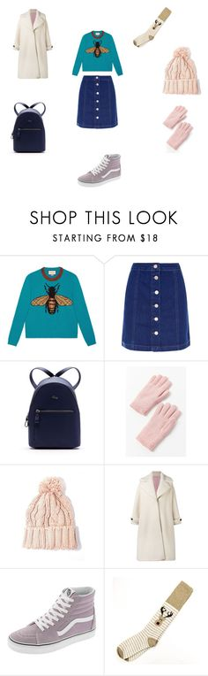 """""""Untitled #381"""" by tori-konkina on Polyvore featuring Gucci, Lacoste, Urban Outfitters, Olympia Le-Tan and Vans"""