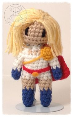 Power Girl Dc Characters, Power Girl, Artisan, Teddy Bear, Toys, Crochet, Animals, Activity Toys, Animales
