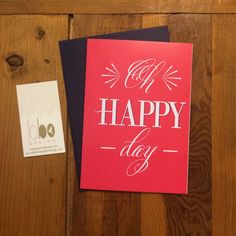 Oh Happy Day Greeting Card by LoboDesign on Etsy, $3.50