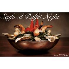 An all-seafood experience every Thursday at #Klouds #SeafoodNight Buffet with all the traditional accompaniments & desserts that make a seafood dinner complete! - #Thekhotel   Call 17360000 19:00 to 23:00