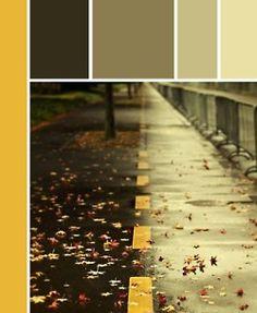 Yellow to gray.