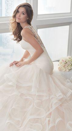 Blush Wedding Dress by Christina Wu Brides   @HouseofWuBrands #ChristinaWuBrides #ChristinaWu #HouseofWu