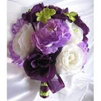 wedding flowers in purple, green and cream - Google Search