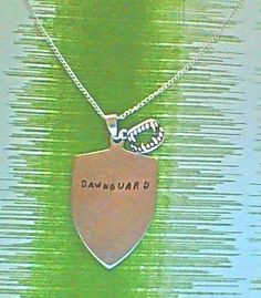necklace gamer necklace dawnguard by ragequitgifts on Etsy