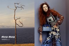 The resort 2015 advertising campaign from Miu Miu taps new blood with photographer Jamie Hawkesworth, who shoots his very first imagery for the label. Risi