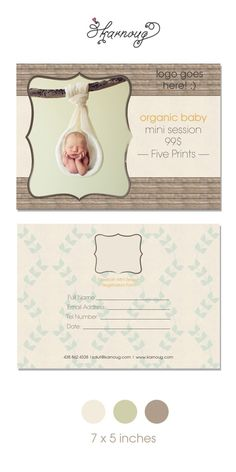 Organic Baby Photography Marketing Board, free download!