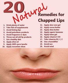 20 Natural Remedies for Chapped Lips Are there natural alternatives for chapped lips? Why do lips become dry, cracked, and chapped and what can we do to prevent it? WHAT ARE CHAPPED LIPS? Chapped lips can be bleeding, cracked, … Dry Lips Remedy, Chapped Lips Remedy, Cracked Lips, Acne Face Wash, Nutrition, Tips Belleza, Lip Care, Facial Care, Aloe Vera Gel