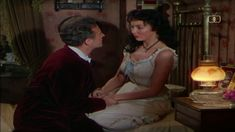The Wild Heart (US Version of Gone To Earth) (With thanks to Talking Pictures TV) Cyril Cusack and Jennifer Jones Cyril Cusack, Jennifer Jones, Wild Hearts, Thankful, Earth, Tv, Pictures, Photos, Television Set
