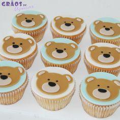 Cupcakes Ursinho - Grãos de Açúcar - Bolos decorados - Cake Design