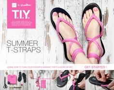 Follow these six easy steps, and we'll teach you how to turn an old T into a pair of summer sandals in no time.