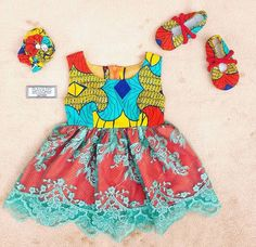 Girls Ankara and Lace dress Ankara Styles For Kids, African Dresses For Kids, African Babies, African Children, Baby Girl Party Dresses, Little Girl Dresses, Baby Dress, Girls Dresses, African Inspired Fashion