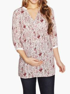 Shop online for Printed Maternity Blouse. Find Blouses, Tops, Maternity and more at Thyme Future Fashion, Maternity Fashion, That Look, Tunic Tops, Printed, Blouse, How To Wear, Shopping, Clothes