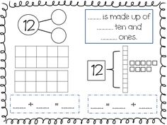 Compose and Decompose Numbers FREEBIE (check out this site for math games and worksheets) Numbers Kindergarten, Math Numbers, Decomposing Numbers, Teaching Teen Numbers, Kindergarten Worksheets, Math Resources, Math Activities, Math Games, Learning Games