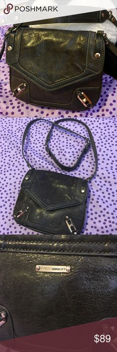 Rebecca Minkoff olive green crossbody handbag Rebecca Minkoff dark olive green crossbody handbag  Feel free to make an offer.  Used and in clean and good condition. No stains or rips. It's big enough for a wallet, phone, car key and a lipstick.  Check out my other listing to creat bundles and save a lot more $$$. Rebecca Minkoff Bags Crossbody Bags