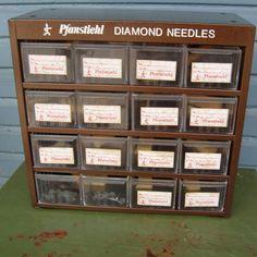 Vintage industrial metal drawers brown Pfanstiehl by trendybindi, $45.00