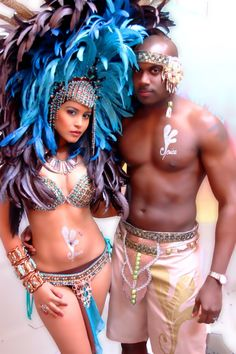 Trinidad Carnival- Okay, so not so much naked-ness, but cool head dresses for the Gods and Goddesses would be neat.