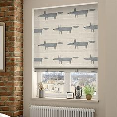 Mr Fox Mini Neutral Roman Blind from Blinds Eyebrow Makeup Tips Nursery Blinds, Bathroom Blinds, Kitchen Blinds, Scion Mr Fox, Mini Sunflowers, House Blinds, Roller Blinds, Curtain Fabric, Houses