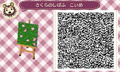 acpath: Grass with Sakura blossoms Source - Animal Crossing New Leaf
