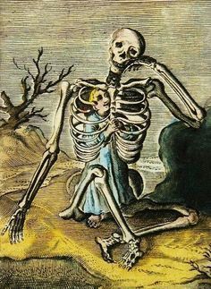 Christoffel van Sichem II The Younger- The Boy In The Skeleton 1581-1658