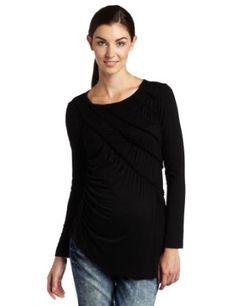 997af61adeed2 Maternal America Women s Maternity Elastic Shearing Top
