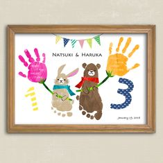 Handprint Art * Animals and Flowers * For Brothers and Twins- Handprint Art * Animals and Flowers * For Brothers and Twins - Baby Crafts, Preschool Crafts, Diy And Crafts, Arts And Crafts, Family Hand Prints, Diy For Kids, Crafts For Kids, Fingerprint Crafts, Bubble Painting