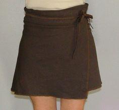 Organic Wrap Skirt - Handmade from Organic Cotton and Hemp Muslin, $60