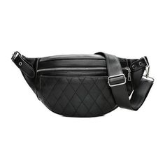 PU Leather Men Waist Pack Fanny Pack Bum Belt Bag High Quality Zipper Waist Bag Solid Chest Bag for Men Men Pouch Pochetes Bolso Leather Fanny Pack, Leather Belt Bag, Leather Men, Quilted Leather, Leather Fashion, Vegan Leather, Casual Belt, Waist Pack, Rihanna