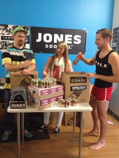 Another day at Jones Soda headquarters...