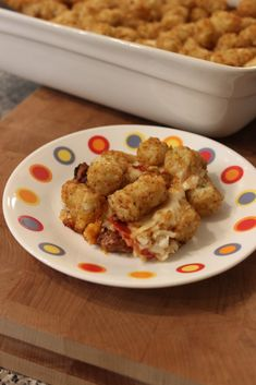 Pizza Tater Tot Casserole from @basilmomma