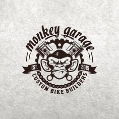create a cool & nice, old school, crazy ape logo for our Monkey Garage Design by PhoBoss Logan, Pistons Logo, Garage Logo, Gas Monkey Garage, Custom Garages, Old School Cars, Garage Design, Best Wordpress Themes, Compass Tattoo