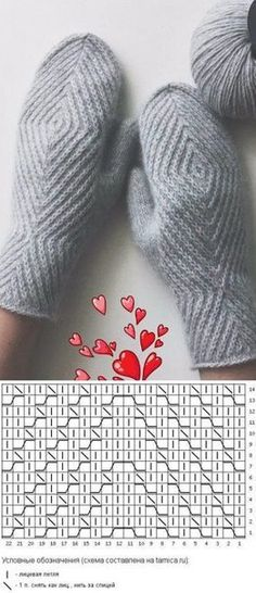 Crochet Patterns Gloves Knitting pattern of knitted mittens Knitted Mittens Pattern, Crochet Mittens, Fingerless Mittens, Knitted Hats, Knitting Charts, Knitting Stitches, Knitting Socks, Knitting Patterns, Knitting Needles