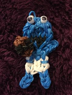 Baby Cookie Monster with a baby cookie. Made using a tutorial off YouTube.