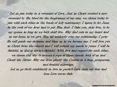 Covenant Wedding Vows Digital Download Printable Christian Marriage Reading Print