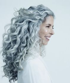 Long silver gray hair. Grey hair. Granny hair. Aging and going gray gracefully. No dye. Dye free. White hair.