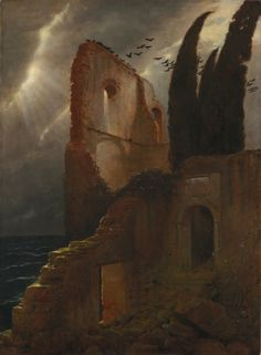 Ruin by the Sea. Arnold Böcklin (Swiss, 1827-1901) The Cleveland Museum of Art