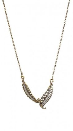 Leaf Necklace by Alyssa Lee Jewelry //  Sean Necklace - Gold
