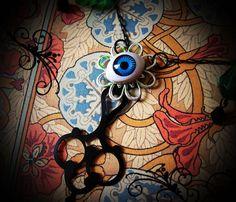 Salvaged Elements Vintage Doll's Eye & Clockwork by artefactredux, $27.00